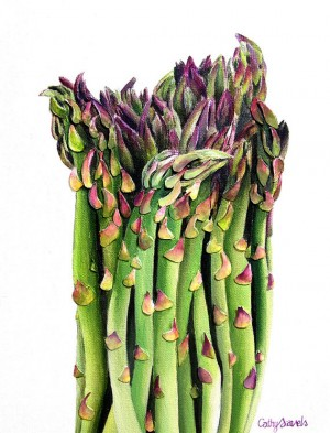 Asparagus Painting – Mixed Media Original – Commissioned Work