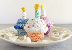 Birthday Cupcake with Candle Crochet Pattern PDF