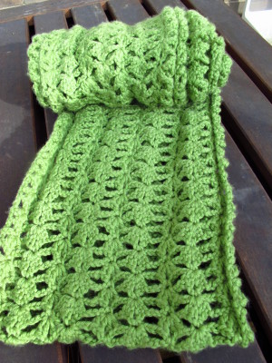 Crocheted Lacy Infinity Scarf and Free Pattern