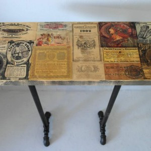 Vintage Themed Industrial Table