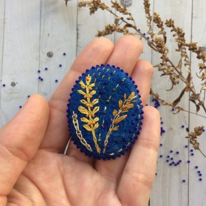 Handmade embroidered pin Cereals