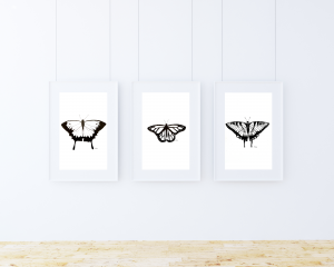 Butterfly Silhouette Print Set
