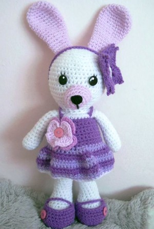 Cute Amigurumi Bunny crochet stuffed animal Kids Birthday gift
