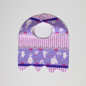 Pink purple Princess baby bib