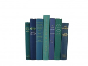 Decorative Books in Ocean Hues for Interior Design