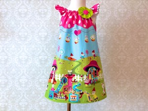 "Girls or Toddlers  ""Gnomeville"" Easter Dress"