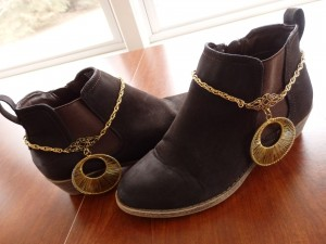 BOOT Chains, Boot Jewelry, Boot Bracelet, Boot Decor, Hippie boot chains, Gold Boot Chains, hippie boot bling, Great Gift Idea