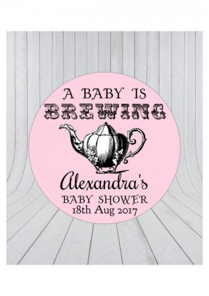 Baby brewing stickers.Tea party baby shower favour stickers. Baby shower stickers,Baby shower thank you stickers, tea party baby shower 051