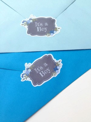 It's a boy baby shower envelope seals, baby shower invites, Boy baby shower labels, envelope seal stickers, baby shower seal stickers, 049