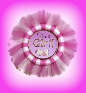 Its a Girl 26″ Tulle Wreath, New Baby, Baby GIrl, Baby Shower Gift