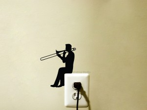 Trombone player Decal