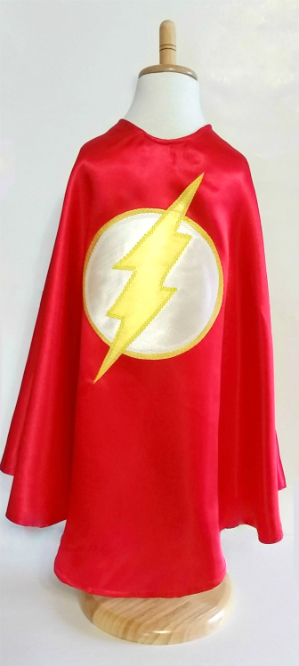 Yellow and Red Flash Superhero Cape & Mask / Kids Superhero Costume / Toddler Birthday Party Outfit/ Boys Capes
