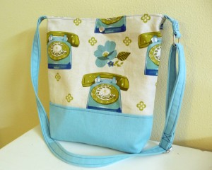 Retro Rotaty Telephones Crossbody Bag
