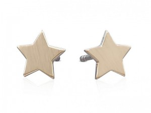 Tiny star solid gold stud earrings