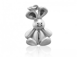 Sterling silver removable bunny charm