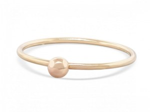 Solid gold stack bubble ring