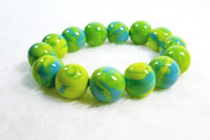 Green and Turquoise Stretch Bracelet