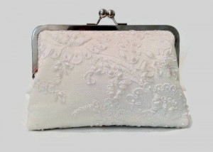 Beaded Lace Clutch Purse