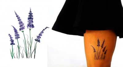 Temporary-Tattoo-Watercolor-Lavender-Model