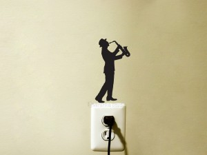 sax player decal