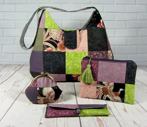 Set of 4 patchwork  bag and purse