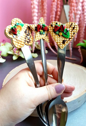 Waffles Teaspoon Polymer Clay