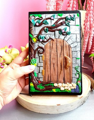 Polymer Clay Enchanted Door Journal Notebook