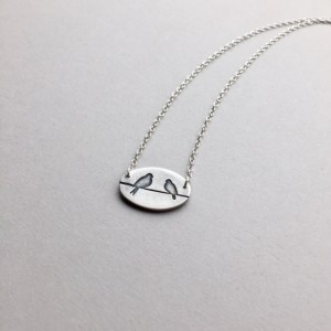 Lovebirds, Silver Bird Pendant, Animal Jewelry, Wedding Anniversary Gifts, Dainty Lovebird Charm, Girlfriend Gift Ideas, Love Gifts For Her