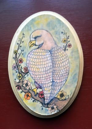 Bird Painting with Flowers