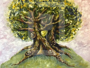Tree Abstract Painting Print