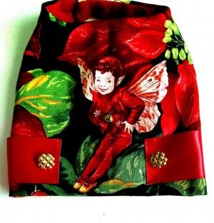 Dog clothes Christmas Harness with fairies Dress and Vest for the Holidays