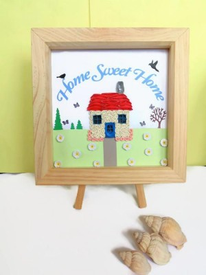 Quilled home sweet home wall art