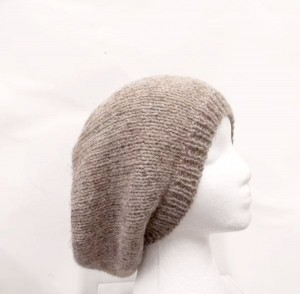 Brown slouchy hat for men and women, handmade