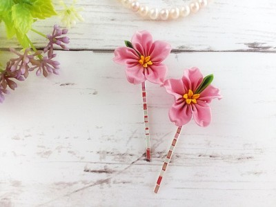 Pink-Flower-Hair-Pins-Kanzashi-Flower-Hair-Pins-Wedding-Floral-Accessories-Bride-Bridesmaid-Hair_1