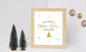 4 Black and Gold Christmas Quote Printables