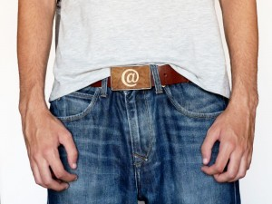 Wooden belt buckle for men and women