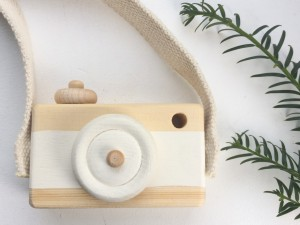 Wooden Toy Camera White