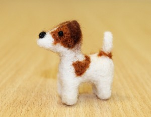 Jack Russell Terrier ,Needle felted Soft Sculpture, Dollhouse Miniature, Dog Lovers Gift