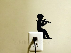 Child Play Violin decal
