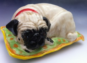 Pug on A cushion Suki