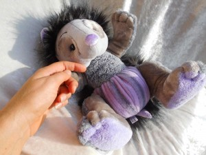 Plush HEDGEHOG Doll Amethyst stuffed animal handmade soft toy hedgehog purple gray unique Home Decor Autumn plushie Forest Critter OOAK
