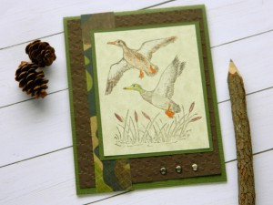Thinking of You Card – Duck Camo Cards – Camouflage Cards – Friendship Cards