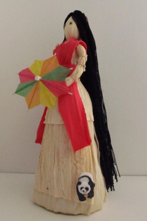 China Doll Corn Husk Peep