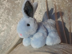 BLUE Baby Rabbit small soft toy TINY BUNNY blue boys cuddly rabbit cute super soft rabbit for children handmade bunny baby shower rabbit toy