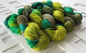 Greenery Sparkly Merino Sock Yarn