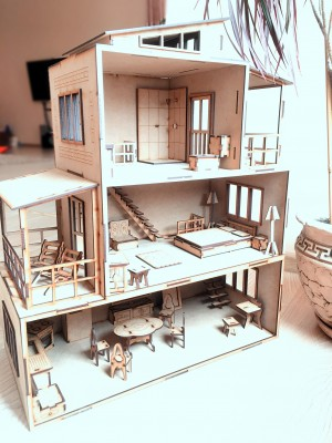 Toy Doll House, #=3D Puzzle
