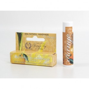 Orange Beeswax LipBalm/ Natural Lip Balm with Extra Virgin Olive Oil