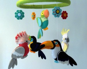 Tropical Parrot Mobile