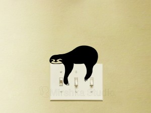 sleepy sloth decal