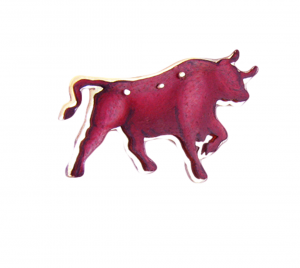 Red Taurus Pin, Lapel pin